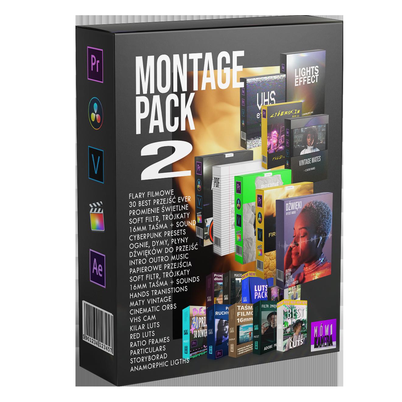 MONTAGE PACK 2 - 2021 Kurs filmowania